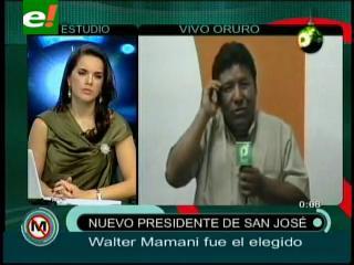 Walter Mamani es el nuevo Presidente del club San José