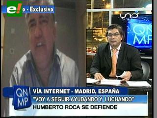 Roca: «En una investigación voy a demostrarle al pueblo boliviano lo que es realmente el Vicepresidente»