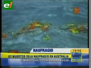 27 muertos deja un naufragio en Australia
