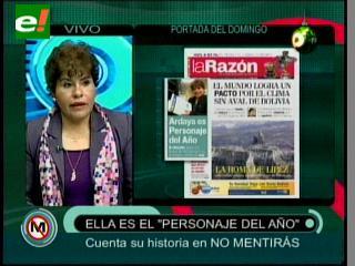 Marlene Ardaya es elegida como el personaje del año por el diario «La Razón»