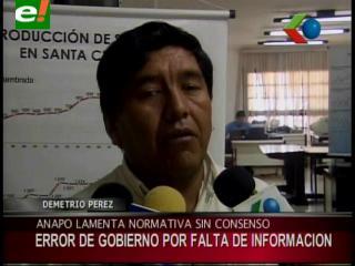 Demetrio Pérez: «Las medidas aprobadas por el Gobierno no son justas para la producción de soya»
