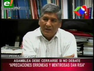 Senador Pedraza: «La Asamblea Legislativa debería cerrarse si no debate»