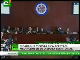 Nicaragua y Costa Rica aceptan mediación ofrecida por México y Guatemala