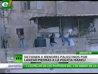 Detienen a menores palestinos por lanzar piedras a la policía israelí