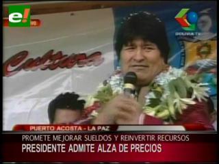 Evo Morales reconoce que habrá un alza de precios en la canasta familiar