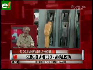 """Sergio Antelo: """"El Gasolinazo en realidad es un impuestazo para cubrir el déficit estatal"""""""