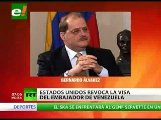 EEUU retira la visa al embajador venezolano