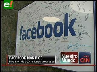Facebook capta inversión de 500 millones de dólares