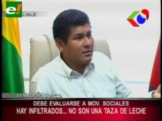 Senador Surco pide evaluar a los Movimientos Sociales: «No son una taza de leche»