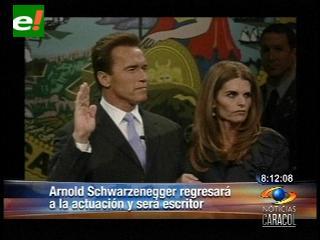 Arnold Schwarzenegger regresará a la actuación y será escritor