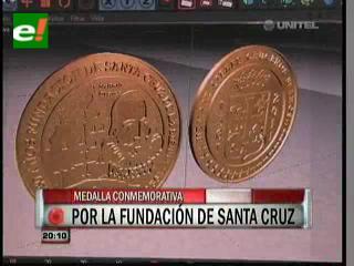 Presentarán Medalla conmemorativa a los 450 años de fundación de Santa Cruz