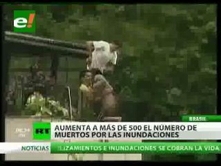 La dura lucha por la supervivencia en las inundaciones de Brasil