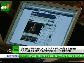 Líder supremo de Irán prohíbe redes sociales pese a tener él un perfil
