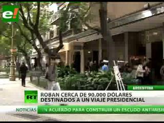 Roban en Buenos Aires fondos destinados a una gira presidencial
