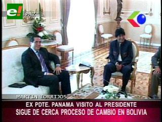 Ex presidente de Panamá se reunió con Evo Morales