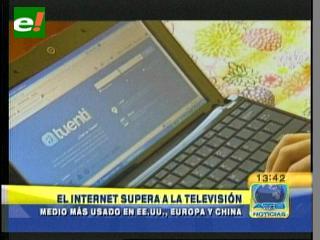 Internet supera a la televisión en EEUU, Europa y China