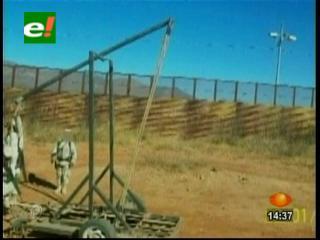 Guardia Nacional halla catapulta para lanzar cocaína a EEUU