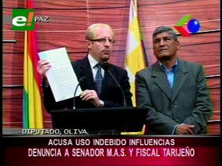Diputado Oliva denuncia al Senador Ávalos por uso indebido de influencias