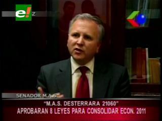 """Senador Sánchez: """"El MAS desterrará el decreto 21060 en la gestión 2011"""""""