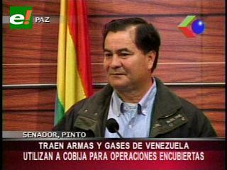 Senador Pinto denuncia vuelos sospechosos procedentes de Venezuela a Cobija