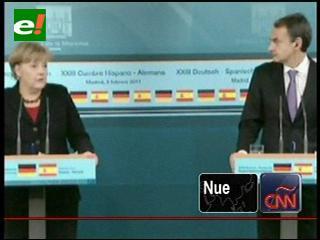 Zapatero y Merkel en la cumbre España-Alemania
