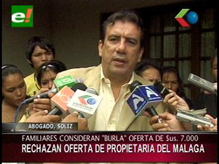 Familiares de las víctimas del Málaga rechazan oferta de propietaria