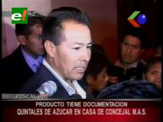 La Paz: Encuentran más de 100 quintales de azúcar en la casa del Concejal del MAS Jorge Silva