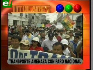 Transporte amenaza con un paro nacional, exigen nivelación de tarifas