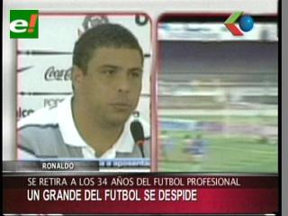 Ronaldo se retira del fútbol a los 34 años