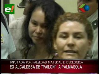 Juez envía a Palmasola a ex alcaldesa de Pailón acusada por falsedad material e ideológica