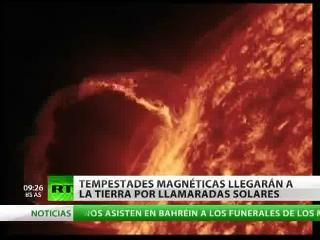 Tempestades magnéticas llegarán a la Tierra