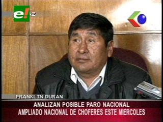 Confederación de Choferes de Bolivia convoca a un ampliado, no descartan ir a un paro nacional
