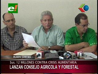 Gobernación de Santa Cruz lanza el Consejo Agrícola Forestal para combatir la crisis alimentaria