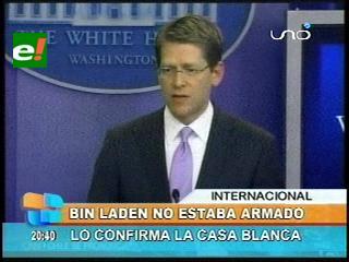 Osama Bin Laden no estaba armado, lo confirma la Casa Blanca