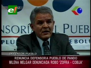 Renunció la Defensora del Pueblo de Pando
