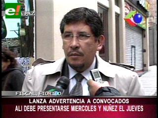 """Fiscal lanza advertencia a Núñez del Prado y a Edson Alí, deben presentarse a declarar por el """"video soborno"""""""