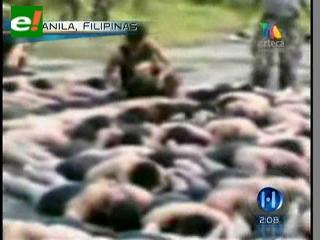 Soldados filipinos sometidos a crueles ejercicios militares