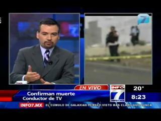 México: Encuentran muerto a un conductor de televisión y se roban el cuerpo
