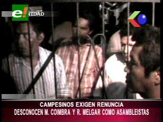 Campesinos del Beni exigen la renuncia de dos Asambleístas departamentales