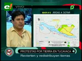 INRA revierte y redistribuye tierras en Tucavaca, hay protestas