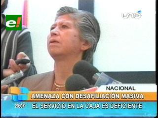 Ministra de Salud amenaza con una desafiliación masiva de la CNS