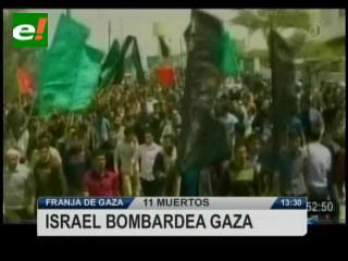 Nuevos bombardeos israelíes dejan al menos 11 muertos en Gaza
