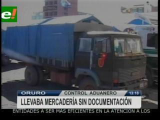 COA detiene un camión militar trasladando contrabando en Oruro