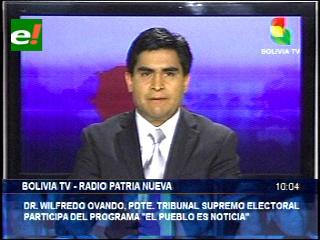 """Presidente del TSE: """"Ciudadanos decidirán con su voto a las autoridades del Poder Judicial"""""""
