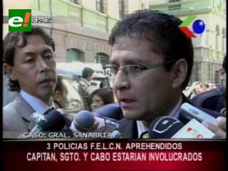 """Detienen a tres policías de la FELCN de Oruro involucrados en el """"caso Sanabria"""""""