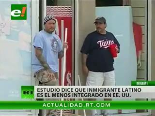 Los inmigrantes latinos son los que peor se integran en la sociedad de EEUU