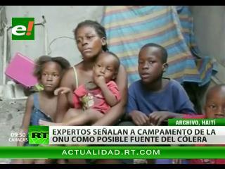 Expertos señalan a campamento de la ONU como posible fuente del cólera