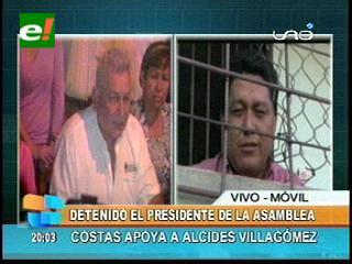 Rúben Costas da su total apoyo a Villagómez, denuncia golpe de Estado del Gobierno