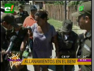 Caso soborno en el Beni: Policía realizó allanamientos a casas de asambleístas