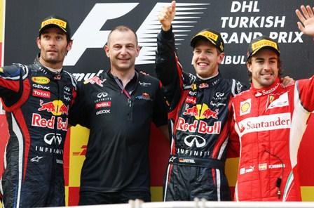 F1: Vettel gana en Turquía y sigue líder